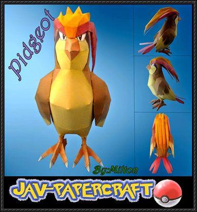 Pokemon - Pidgeot Free Papercraft Download - http://www.papercraftsquare.com/pokemon-pidgeot-free-papercraft-download.html
