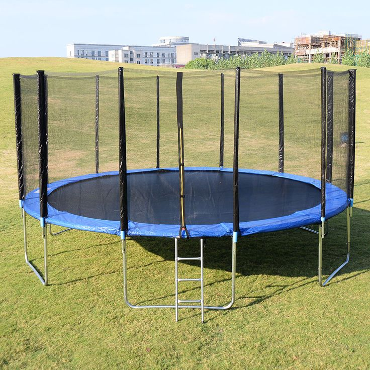 New 16FT Trampoline Combo Bounce Jump Safety Enclosure Net W/Spring Pad Ladder #Unbranded