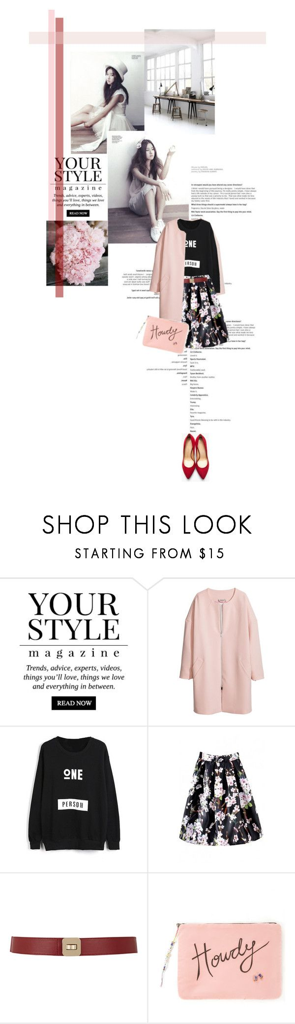 """""""Sweetness"""" by farahhind ❤ liked on Polyvore featuring mode, IDeeen, Pussycat, H&M, Maison Boinet, Venessa Arizaga, Charlotte Olympia, bhalo et bhalo3"""