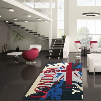 LOVELY space and colors combination! AND THE london carpet, Arte Espina