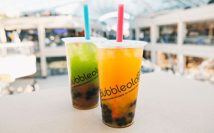 Bubble Tea is the name given to the wide variety of refreshing flavoured fruit teas and milk teas served ice cold or piping hot with chewy tapioca balls that you suck up through a big fat straw! Yum!