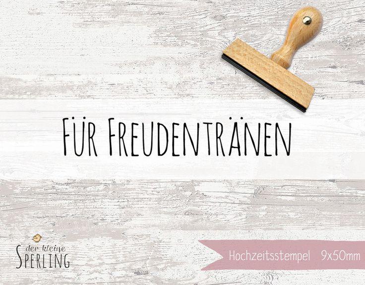 Stempel FREUDENTRÄNEN von Der kleine Sperling - Stempel auf DaWanda.com