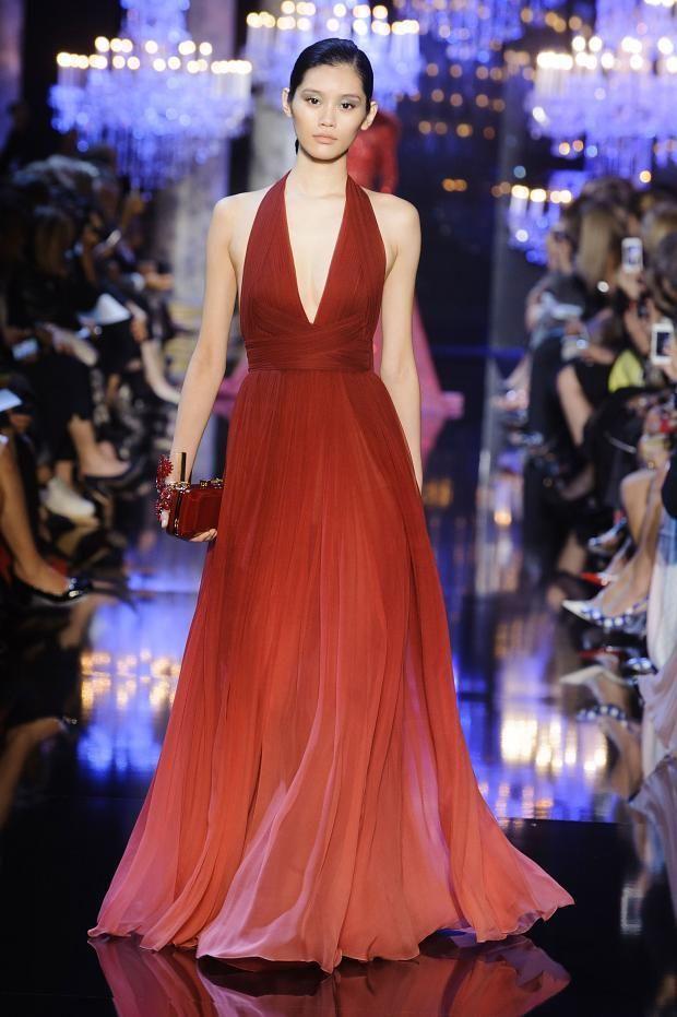 Elie saab 2014 F/W Couture - 1930's Evening halter neck dress