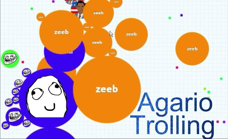 AGARIO TROLLING PEOPLE   SOLO GAMEPLAY
