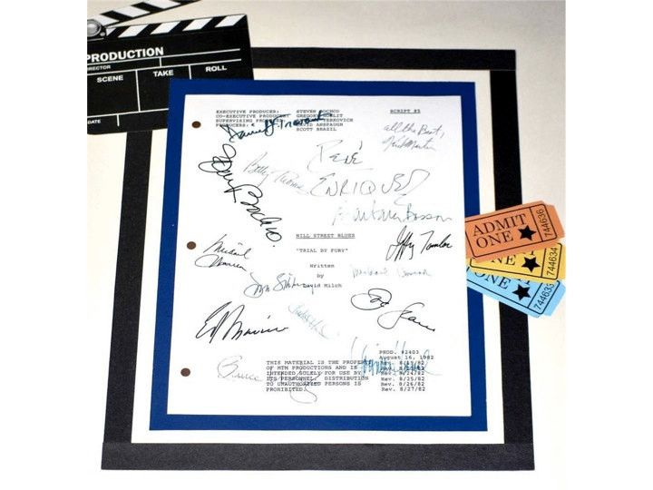 "Hill Street Blues: Trial By Fury"" Episode Script Autographed by Daniel Travanti, Michael Conrad, Michael Warren, Charles Haid & More"