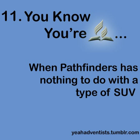 …When Pathfinders has nothing to do with a type of SUV. XD