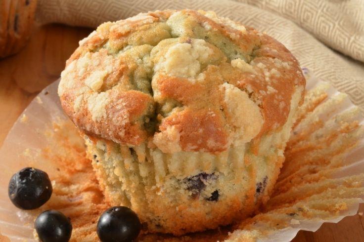 Graines de pavot, bleuets et yogourt grec...un muffin succulent