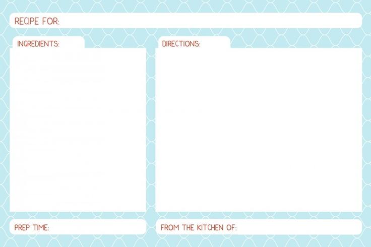 free printable  u0026 editable recipe cards