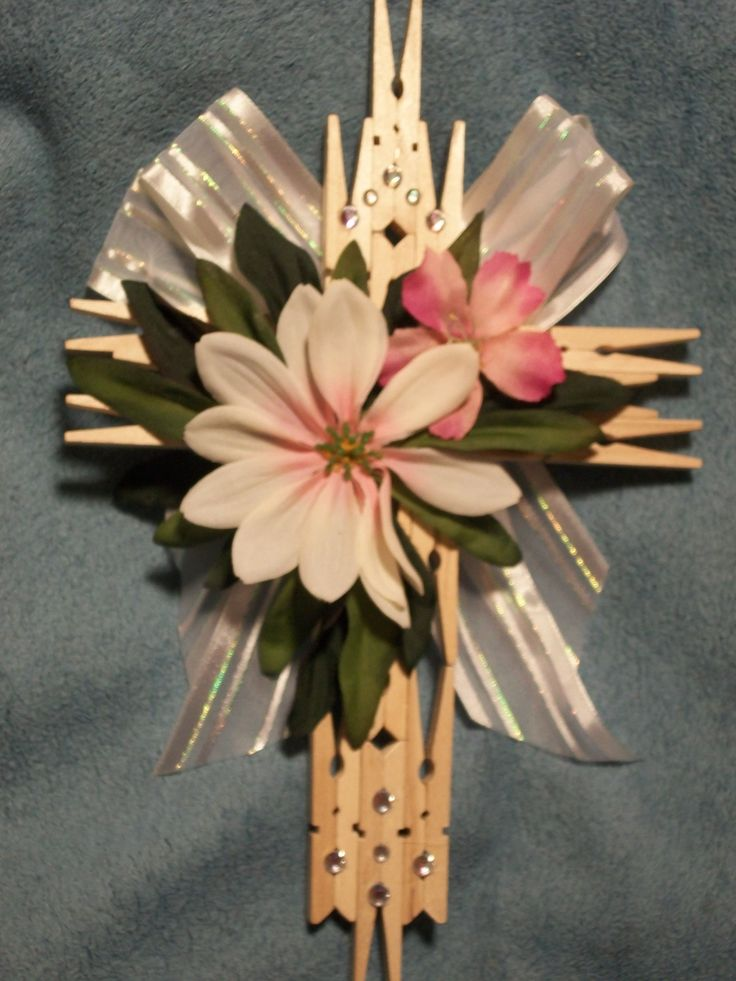 Handmade Clothespin Cross Clothespin Crosses