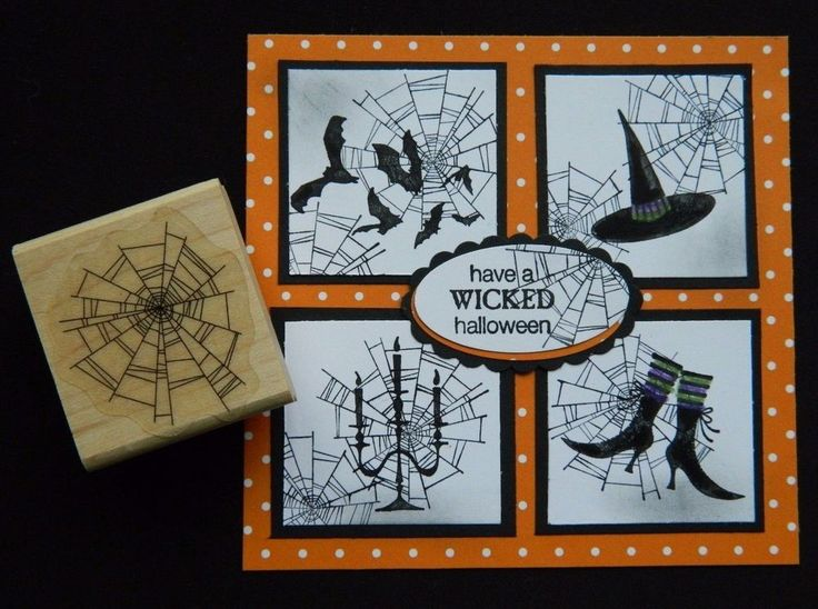 Stampin up stamp HAPPY HALLOWEEN CREEPY HAUNTED HOUSE SPIDER WEB su #StampinUp