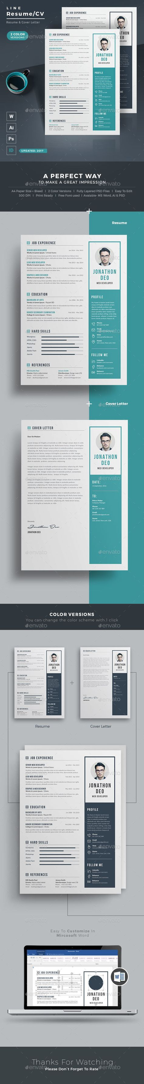 Resume by themedevisers Resume Word / CV Template with super modern and professional look. Elegant page designs are easy to use and customize, so you ca