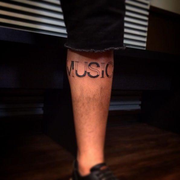 ✍️ #music #musica #musicproducer #musiclover #tattoo #calftattoo #tattooart #tatuaz #ink #instamusic #blacktattoo #tatouage #tatuaggio #tatuagem #art #tattoos #musical #backtattoo #tattooed #tattoodesign #musictattoo #lettering #letteringdesign #letteringtattoo #tattooart #tattooink #inkedboy