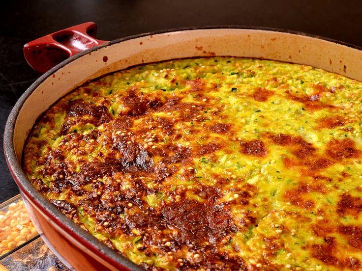 Gratin de quinoa aux courgettes. . La recette par Ma cuisine santé.
