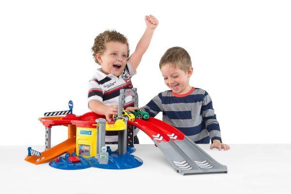 Wciągająca zabawka w postaci garażu dla dzieci rozwijająca wyobraźnię.