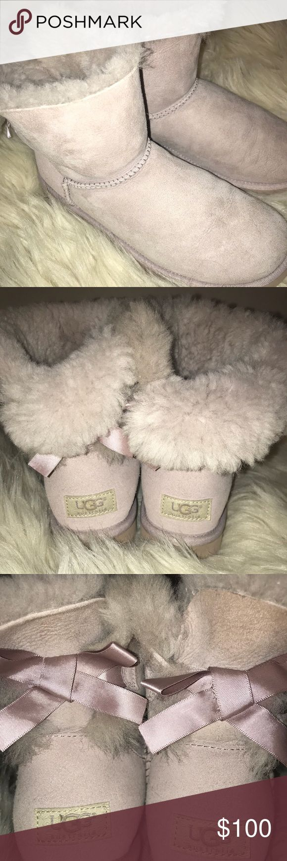 Mini Bailey bow Uggs Lavender mini bailey bow Uggs! Only worn a few times, and only indoors. Size 8. Open to offers! UGG Shoes Winter & Rain Boots