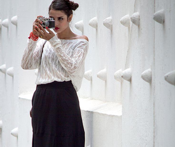 #blouse thread #long skirt