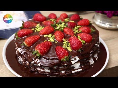 Çikolatalı Krep Pasta Tarifi - YouTube