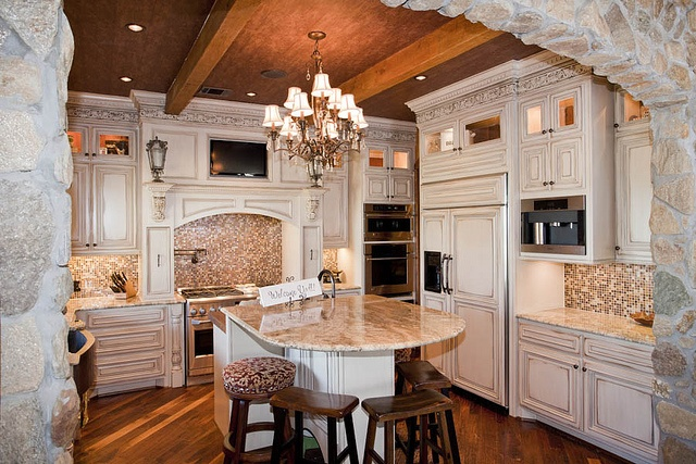Timber Frame Kitchen - Texas Timber Frames by Texas Timber Frames, via Flickr