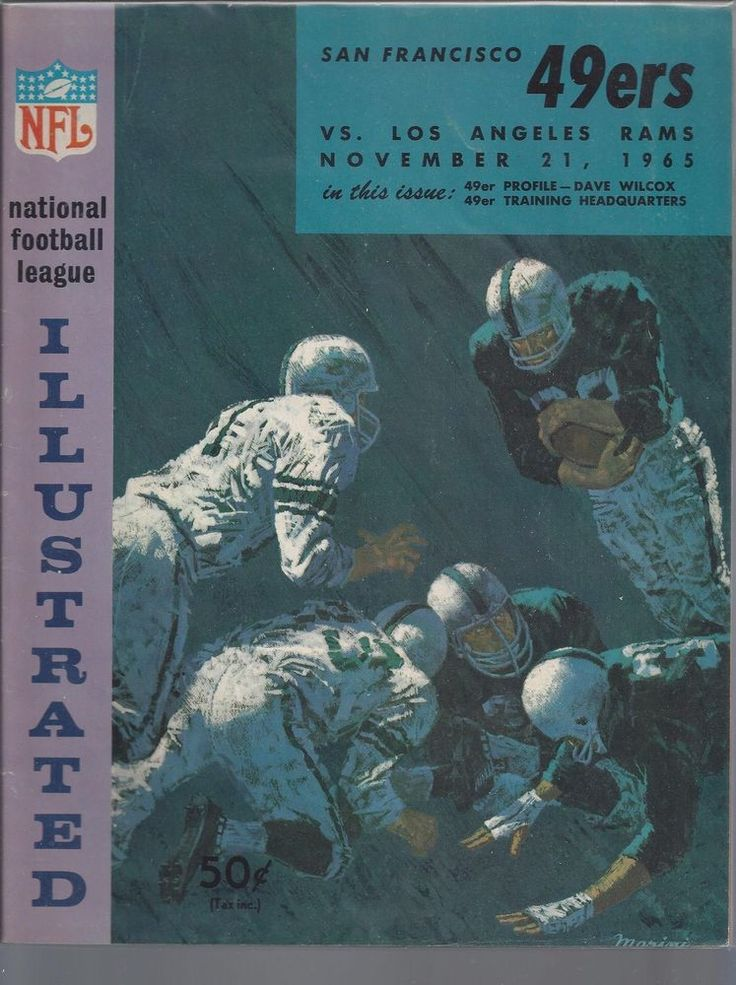 1965 NFL LOS ANGELES RAMS @ SAN FRANCISCO 49ERS FOOTBALL PROGRAM @ KEZAR