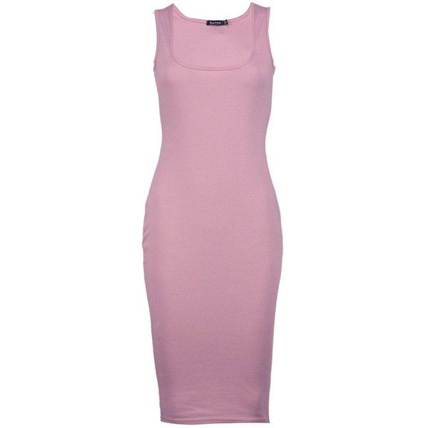 Boohoo Petite Nina Zip Side Bodycon Midi Dress ($14) ❤ liked on Polyvore featuring dresses, midi dress, pink bodycon dress, bodycon dress, petite bodycon dresses and bodycon cocktail dresses