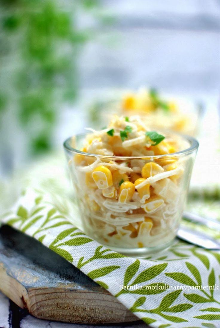 sałatka, kukurydza, seler, majonez
