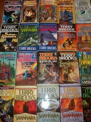 """Terry Brooks Shannara Series. Where my love of reading about other worlds truly was captured!  I even found my little girls' name in the """"Wishsong of Shanara"""" - Amberly was an amazing girl character - it was only right that I chose her name from one of my favorite authors!"""