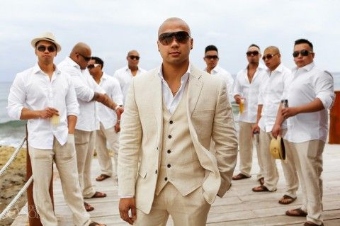 61 Stylish Beach Wedding Groom Attire Ideas | HappyWedd.com