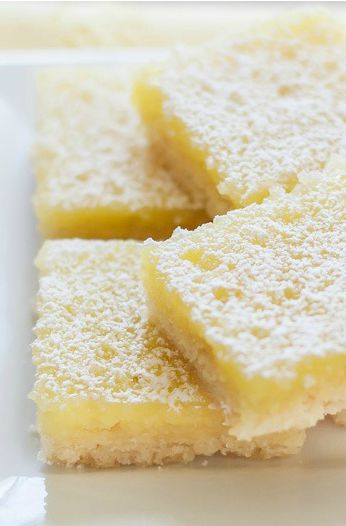 A delicious Dairy Free and Gluten Free lemon bars recipe with the best shortbread base. They're the tastiest gluten free dessert bars you'll ever try!  Lemon Squares  