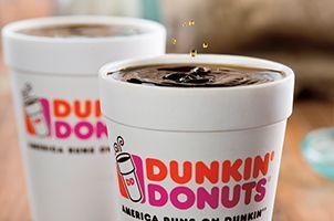 I love coffee, especially Dunkin Donuts