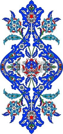 Ottoman classical pattern of hand decoration