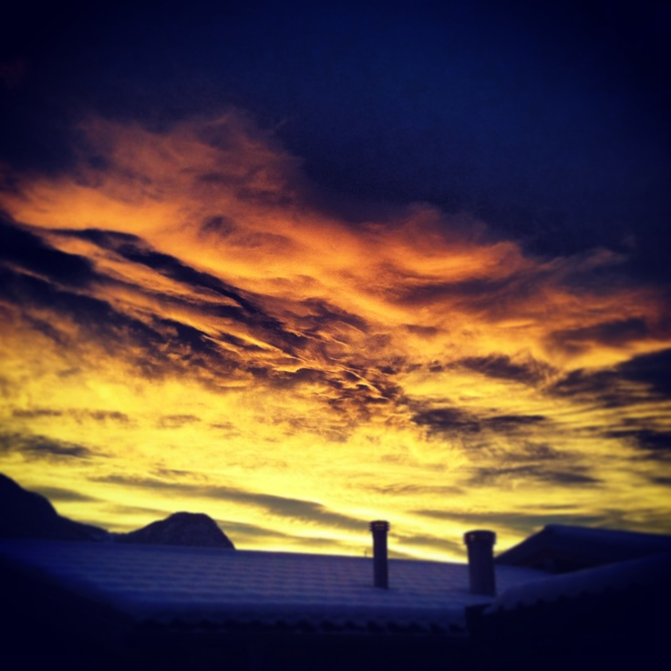 Beautiful colors of the sunset in Valtellina!