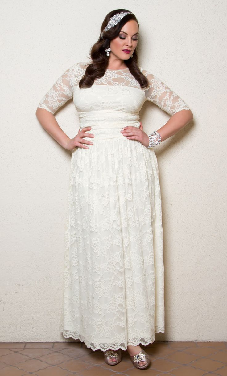 Check out the deal on Lace Illusion Wedding Gown at Kiyonna Clothing