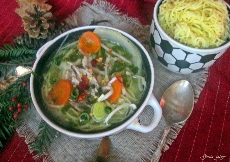 Gosia gotuje: Rosół drobiowo-wołowo-grzybowy