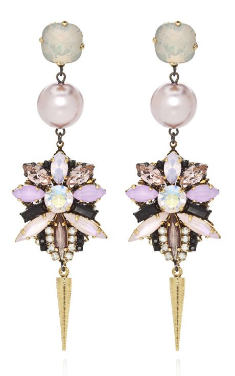 Erickson Beamon ~ Pretty in Punk Costume Pearl Drop Earrings