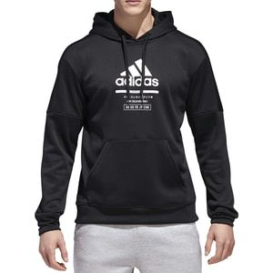 Adidas Men s Team Issue Fleece F Z Hoodie Black  1d0bf95f1