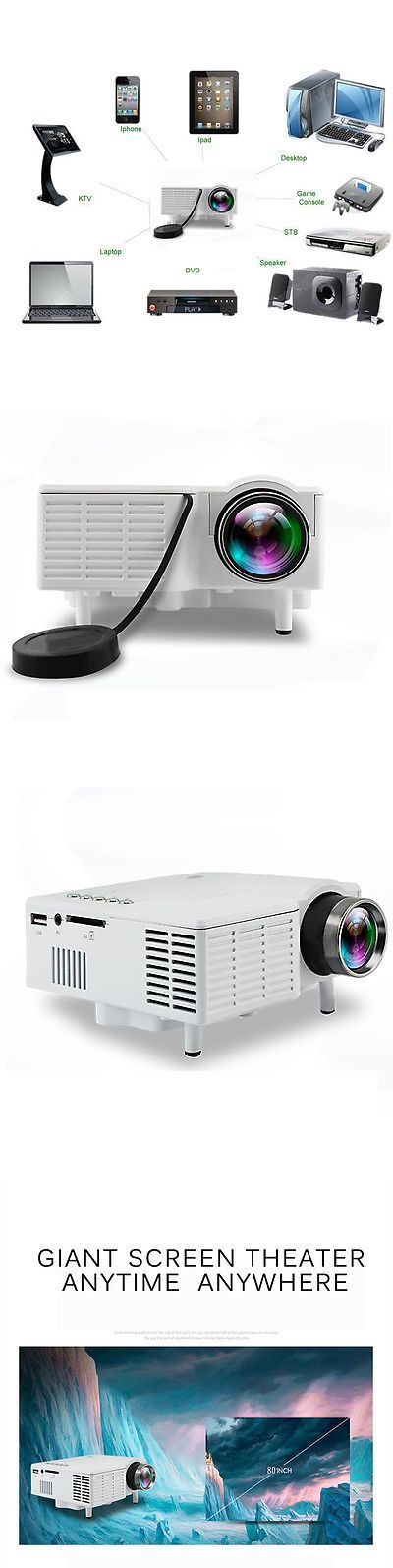 Home Theater Projectors: Uc28 Mini Portable Home Theater Cinema Proyector Projector Pc Vga Usb Sd Av New -> BUY IT NOW ONLY: $35.5 on eBay!