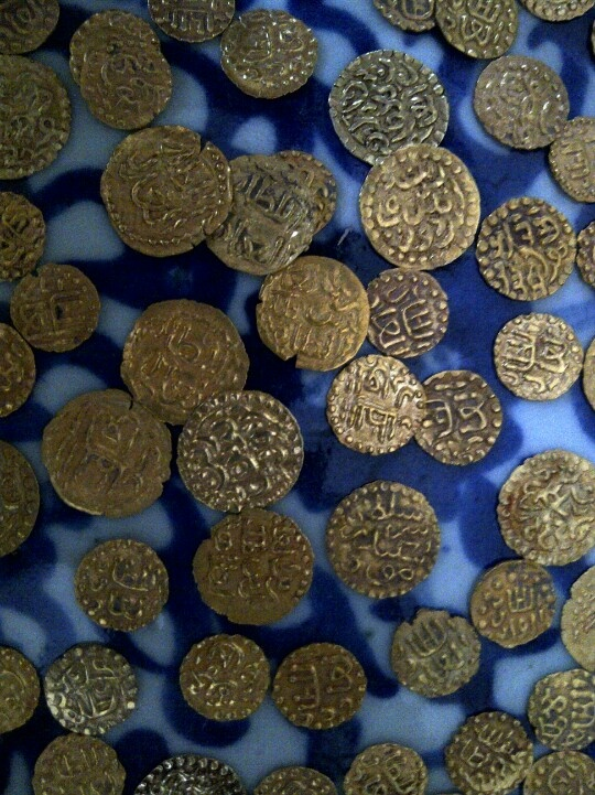 Old gold coins from Aceh