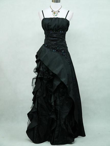 Victorian Burlesque Gothic Long Black Wedding Prom