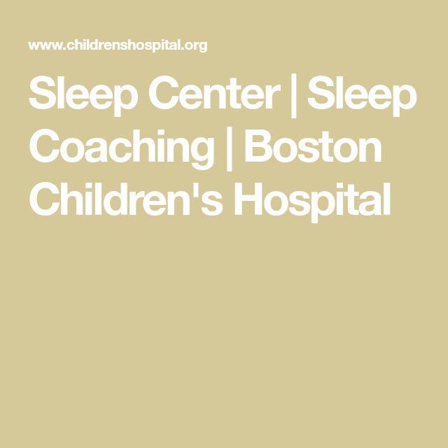 Sleep Center | Sleep Coaching|Boston Children's Hospital