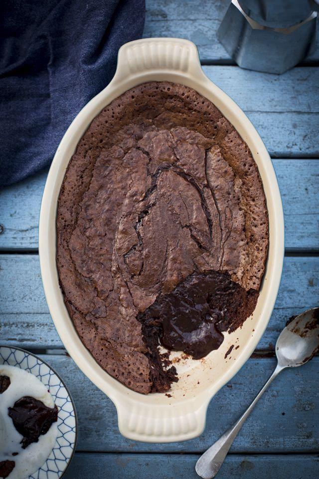 Chocolate Lava Cake... A brilliant self saucing pudding! | DonalSkehan.com
