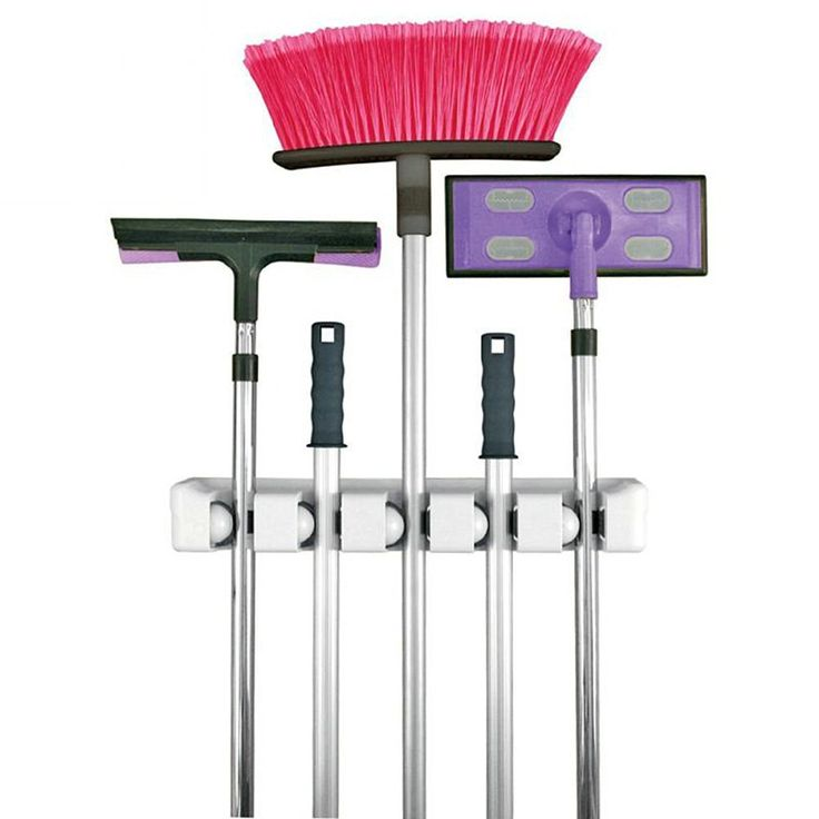 """WORTH TO OWN"" Holidayli Muti-purpose Wall Mounted Mop Brush Broom Holder…"