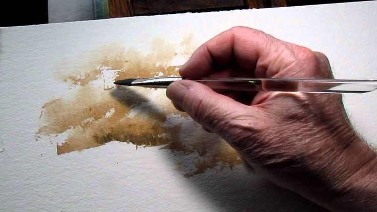 Great demo that leads to good texture and lots of white left... Paint trees or bushes using sponge and watercolor