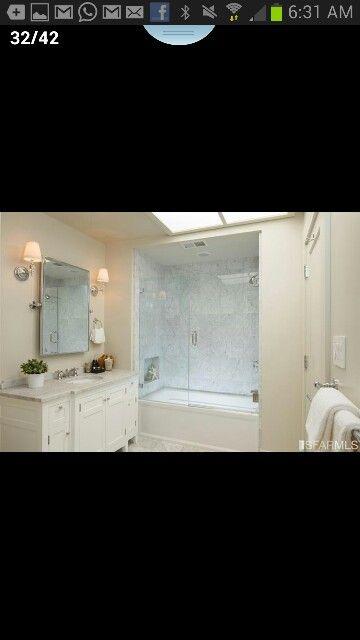Marble floor, mirror that tilts