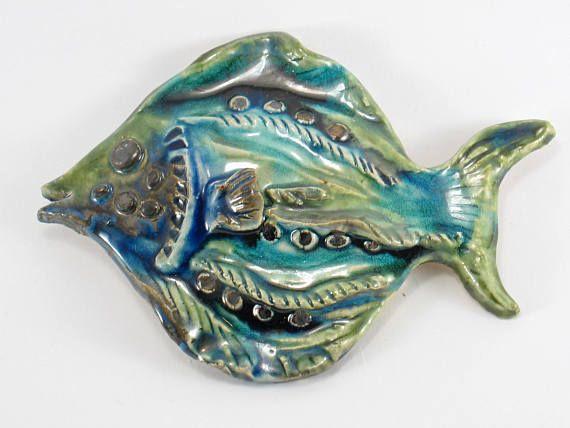 Ceramic fish Fish on the wall hanging fish Ceramic decor