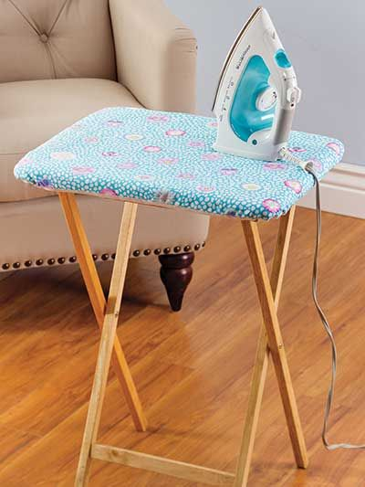 Portable Ironing Board TV Tray, heat resistant batting and one fat quarter for a cover.