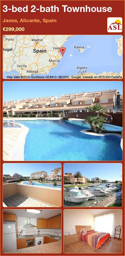 3-bed 2-bath Townhouse in Javea, Alicante, Spain ►€299,000 #PropertyForSaleInSpain