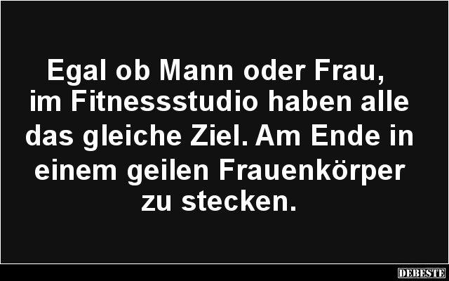 Egal ob Mann oder Frau, im Fitnessstudio.. | Lustige Bilder, Sprüche, Witze, echt lustig
