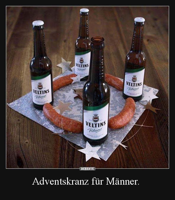 Adventskranz für Männer. | Lustige Bilder, Sprüche, Witze, echt lustig