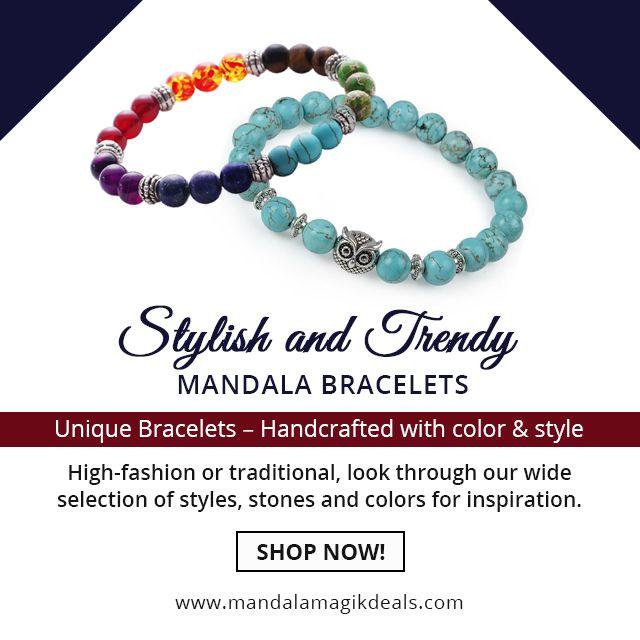 Buy stylish and trendy #Mandalabracelets