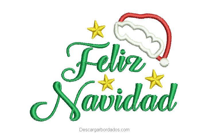 Diseño Bordado De Letra Feliz Navidad Con Estrella Descargar Diseños De Bordados Letras Feliz Navidad Feliz Navidad Moldes De Letras